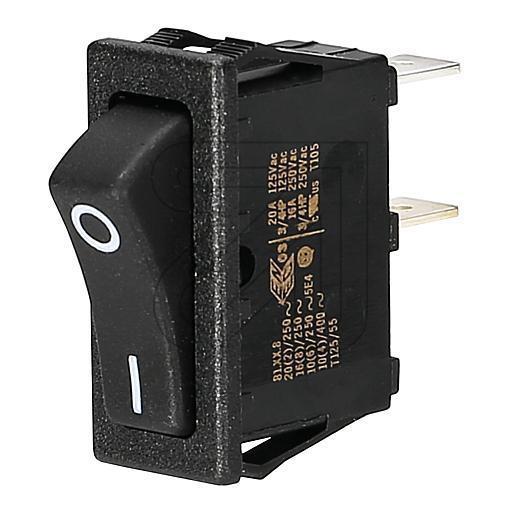 Upotettava keinuvipukytkin musta - Näytöt, kytkimet ja varusteet - 9913176 - 1