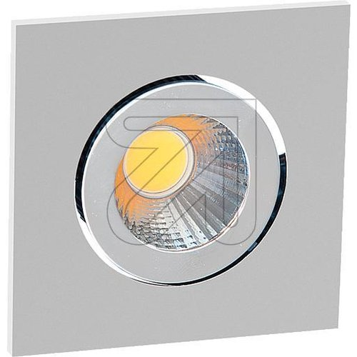 Power-LED-Einbauleuchte chrom matt 3000K 6W PC24N61502 - EAN 4037293000741