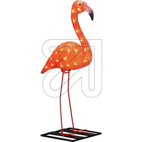 LED Acryl Flamingo 48 bernsteinf. LED außen 6272-803 - EAN 7318302728038