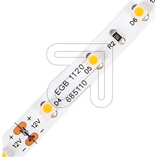 EGB LED Stripe-Rolle IP20 12V-DC 18W/5m 2700K (Chip 3528) - EAN 4027236044024